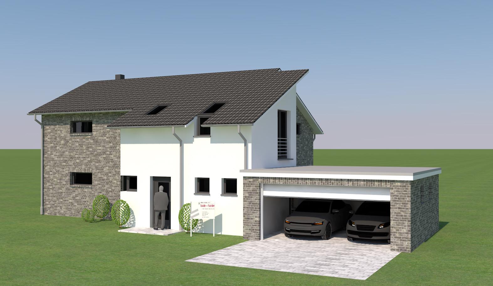 Neubau eines EFH in Meddewade